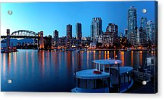 Skyscrapers At The Waterfront, Burrard Acrylic Print by Panoramic Images