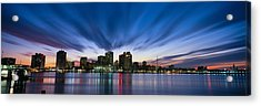 Skyscrapers At The Waterfront, New Acrylic Print