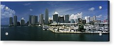 Skyscrapers At The Waterfront Viewed Acrylic Print