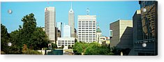 Skyscrapers In A City, Indianapolis Acrylic Print by Panoramic Images
