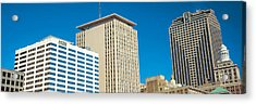 Skyscrapers In A City, New Orleans Acrylic Print by Panoramic Images