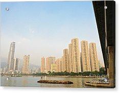 Skyscrapers In Hong Kong Acrylic Print