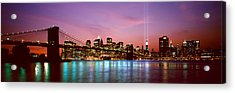 Skyscrapers Lit Up At Night, World Acrylic Print