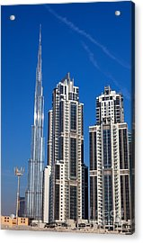 Skyscrapers On Dubai  Acrylic Print by Fototrav Print