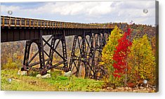 Skywalk Kinzua Bridge State Park Mckean County Pennsylvania Acrylic Print