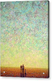 Skywatching In A Painting Acrylic Print