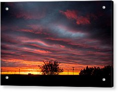 Acrylic Print featuring the photograph Skywaves In Pink by Shirley Heier