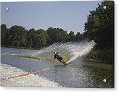 Slalom Waterskiing Acrylic Print