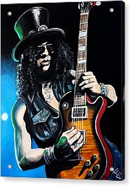 Slash Acrylic Print by Tom Carlton
