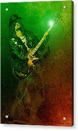 Slashed Acrylic Print by WB Johnston