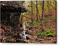 Slate Bottom Creek Acrylic Print by Benjamin Yeager