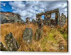 Slate Mine Ruins Acrylic Print by Adrian Evans