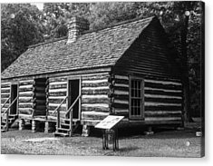 Acrylic Print featuring the photograph Slave Quarters Belle Meade Plantation by Robert Hebert