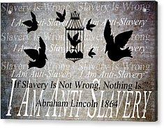 Slavery Acrylic Print