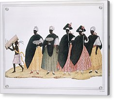 Slaves Dressed For Fiesta Del Rosario Acrylic Print by Everett
