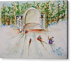 Sledding At Devou Park Acrylic Print