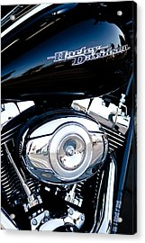 Sleek Black Harley Acrylic Print by David Patterson