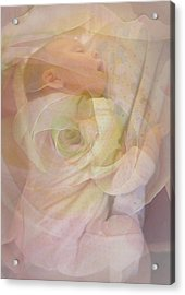 Sleep My Baby Acrylic Print by Shirley Sirois