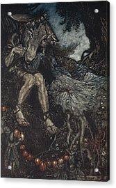 Sleep Thou, And I Will Wind Thee Acrylic Print by Arthur Rackham