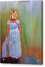 Acrylic Print featuring the painting Into The Blue by Marie Hamby