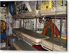 Sleeping Area Russian Submarine Acrylic Print by Thomas Woolworth