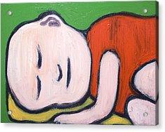 Sleeping Baby Buddha Acrylic Print by Kazuya Akimoto