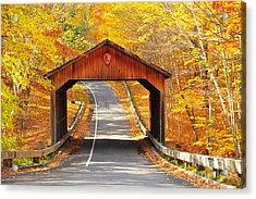 Sleeping Bear National Lakeshore Covered Bridge Acrylic Print by Terri Gostola