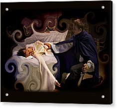 Sleeping Beauty And Prince Acrylic Print