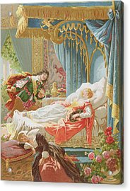 Sleeping Beauty And Prince Charming Acrylic Print by Frederic Lix