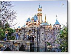 Sleeping Beauty Castle Disneyland Side View Acrylic Print