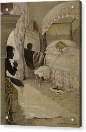 Sleeping Beauty Circa 1916 Acrylic Print by Aged Pixel