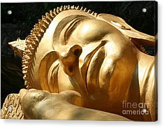 Acrylic Print featuring the photograph Sleeping Buddha by Nola Lee Kelsey