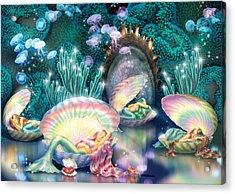 Sleeping Mermaids Acrylic Print