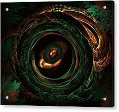 Sleeping Snake Acrylic Print by Radoslav Nedelchev