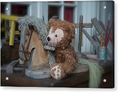 Acrylic Print featuring the photograph Sleepy Cowboy Bear by Thomas Woolworth