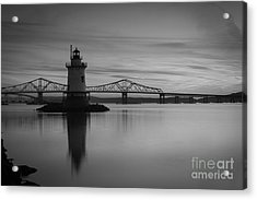 Sleepy Hollow Lighthouse Bw Acrylic Print