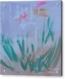 Acrylic Print featuring the painting Sleepy Pond by PainterArtist FIN