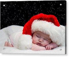 Sleepy Santa Baby Acrylic Print