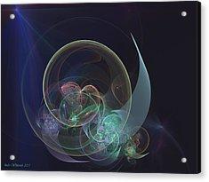Acrylic Print featuring the digital art Sleepy Time Moon by Linda Whiteside