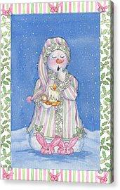 Sleepy-time Snowgal Acrylic Print