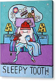 Sleepy Tooth Acrylic Print