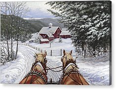 Sleigh Bells Acrylic Print by Richard De Wolfe