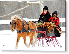 Acrylic Print featuring the photograph Sleigh Ride by James Kirkikis