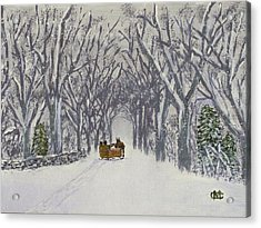 Sleigh Ride Through Time Acrylic Print