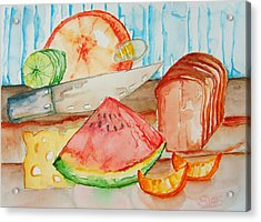 Slice It Acrylic Print by Elaine Duras