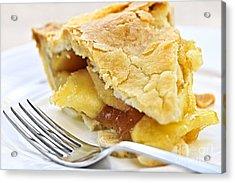 Slice Of Apple Pie Acrylic Print by Elena Elisseeva