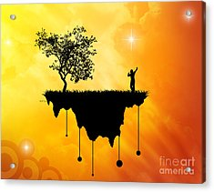 Acrylic Print featuring the digital art Slice Of Earth by Phil Perkins