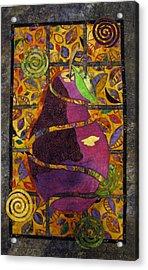 Sliced Pear Acrylic Print by Lynda K Boardman