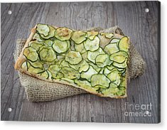 Sliced Pizza With Zucchini Acrylic Print by Sabino Parente