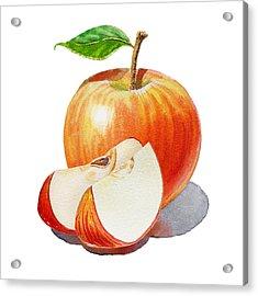 Sliced Red Apple  Acrylic Print